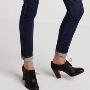 Madewell Bette Lace-up High Heel Oxford Booties